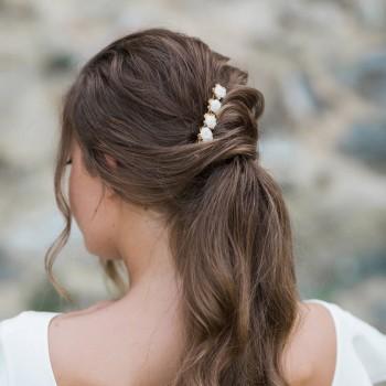 """""""Vana"""" Barrette fleurie pour coiffure de mariée"""