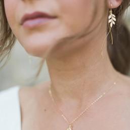 """""""Fania"""" Boucles d'oreilles de mariée jolie branche et pendentifs vagues"""